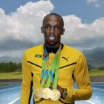 usain bolt med medaljer